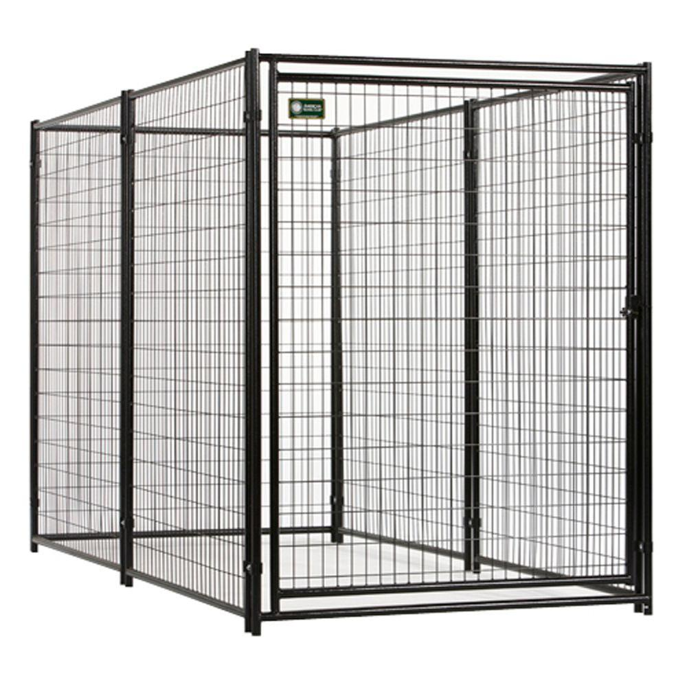 American Kennel Club 6 ft. x 5 ft. x 10 ft. Black Powder Coated Kennel