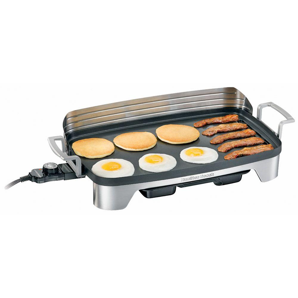 Hamilton Beach Premiere Cookware Electric Griddle with Backsplash and Warming Tray-DISCONTINUED