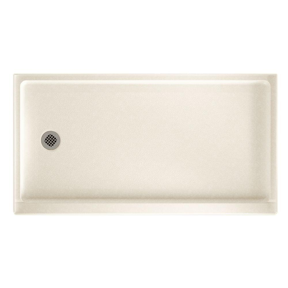 32 in. x 60 in. Solid-Surface Single Threshold Retrofit Left-Drain Shower
