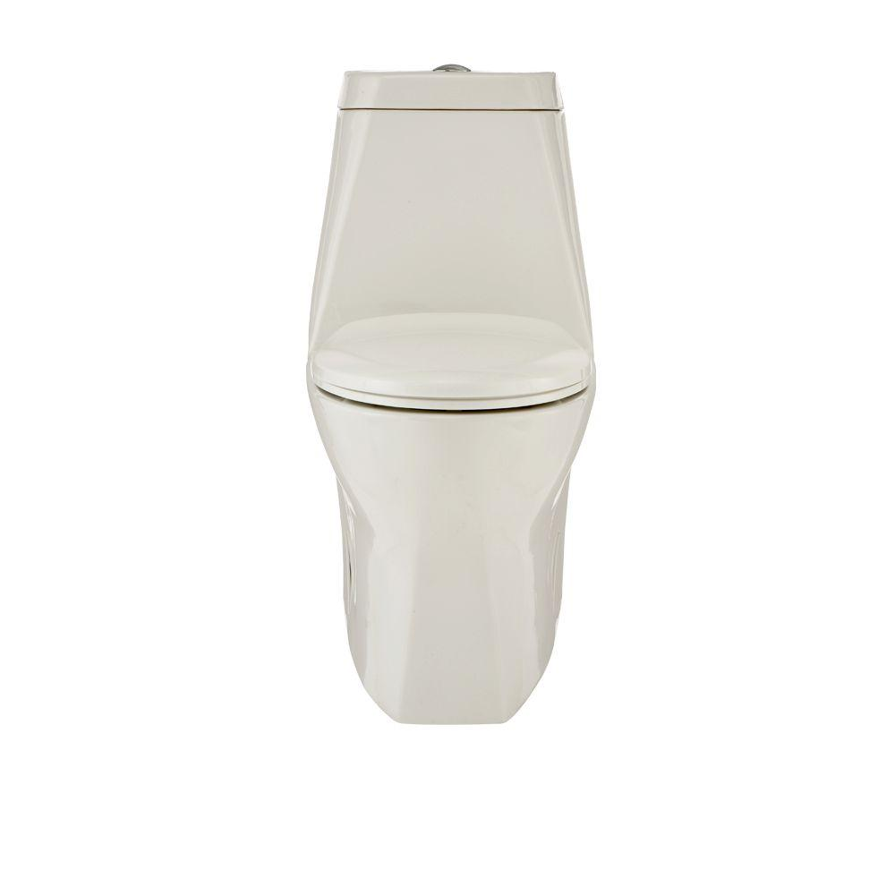 Porcher L'Expression II 1-Piece Elongated Toilet in White-DISCONTINUED