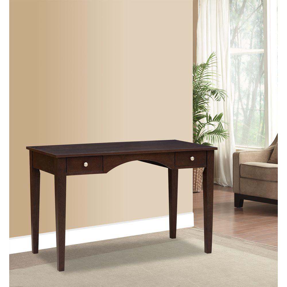 Pulaski Furniture Scoop Front Wood Decorative Writing Desk in Brown-DS-A132-550