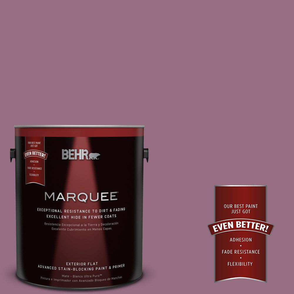 BEHR MARQUEE 1-gal. #690D-6 Meadow Flower Flat Exterior Paint-445301 - The