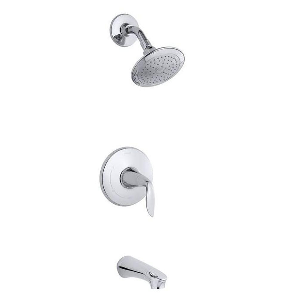 KOHLER Refinia Bath and Shower Trim in Polished Chrome (Valve Not