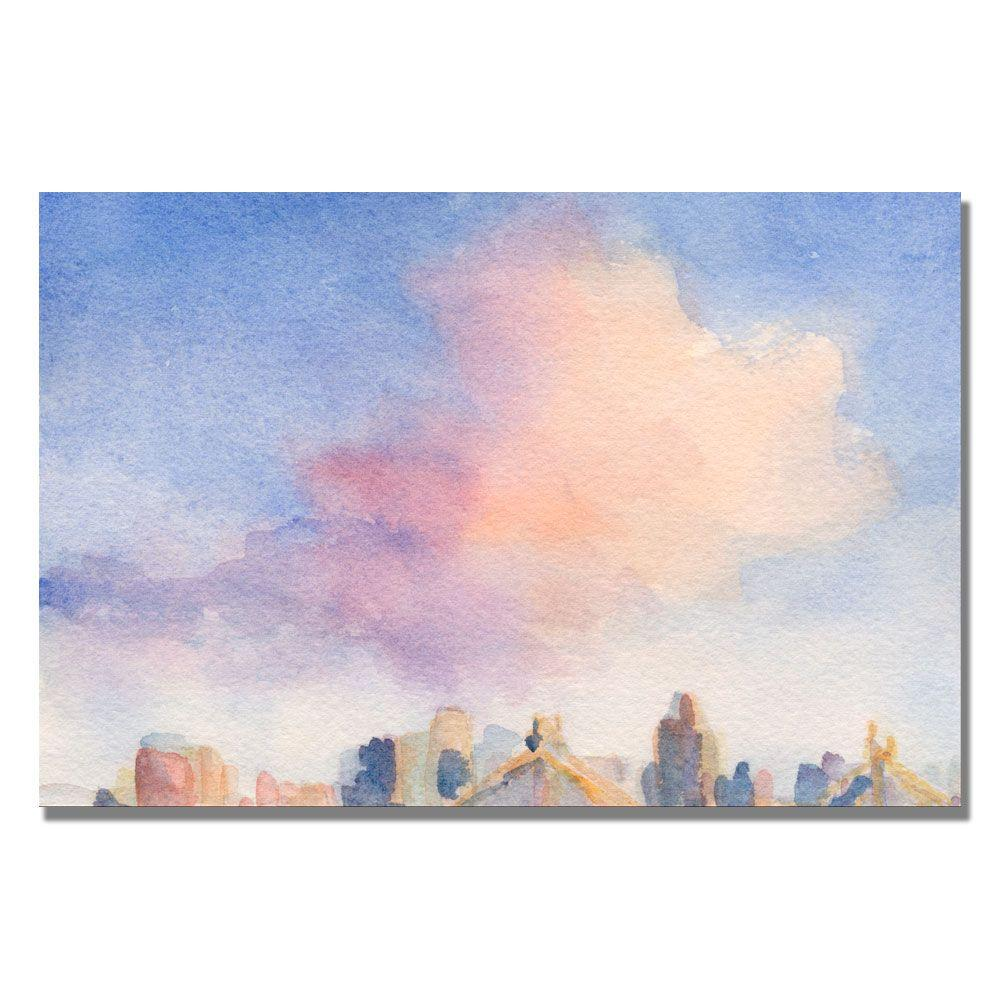 Trademark Fine Art 22 in. x 32 in. Pink Cloud 59th Street Bridge Canvas Art-DISCONTINUED