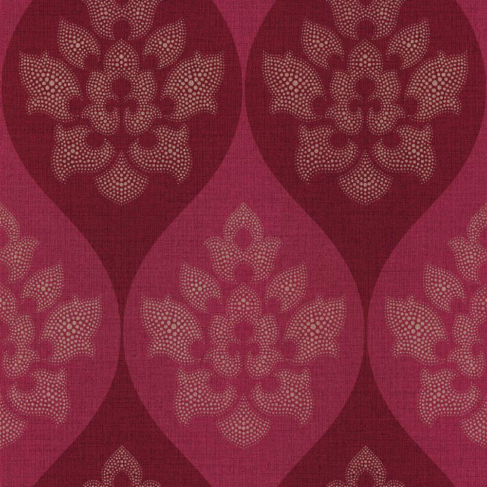 The Wallpaper Company 56 sq. ft. Ambiance Damask Wallpaper