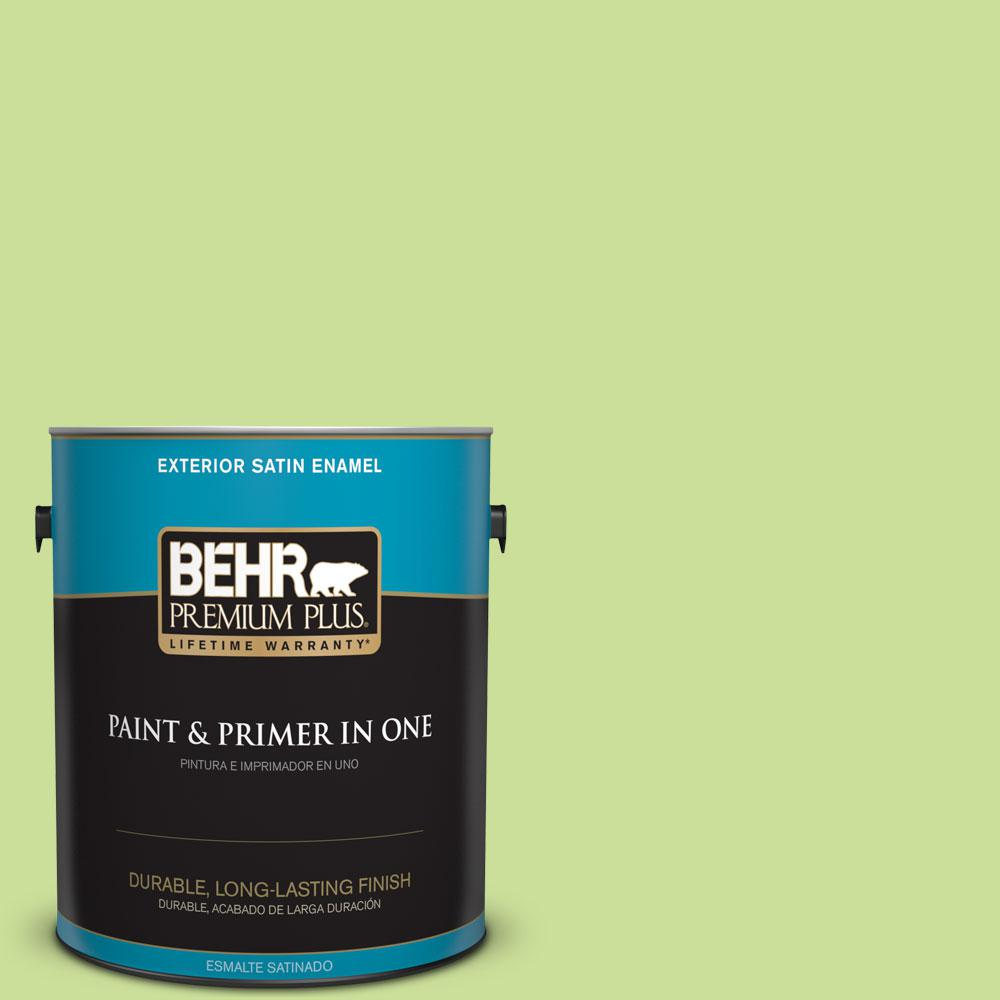 1-gal. #420A-3 Key Lime Satin Enamel Exterior Paint