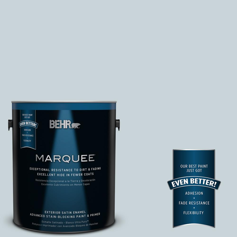 BEHR MARQUEE 1-gal. #PPL-73 Tranquil Sea Satin Enamel Exterior Paint
