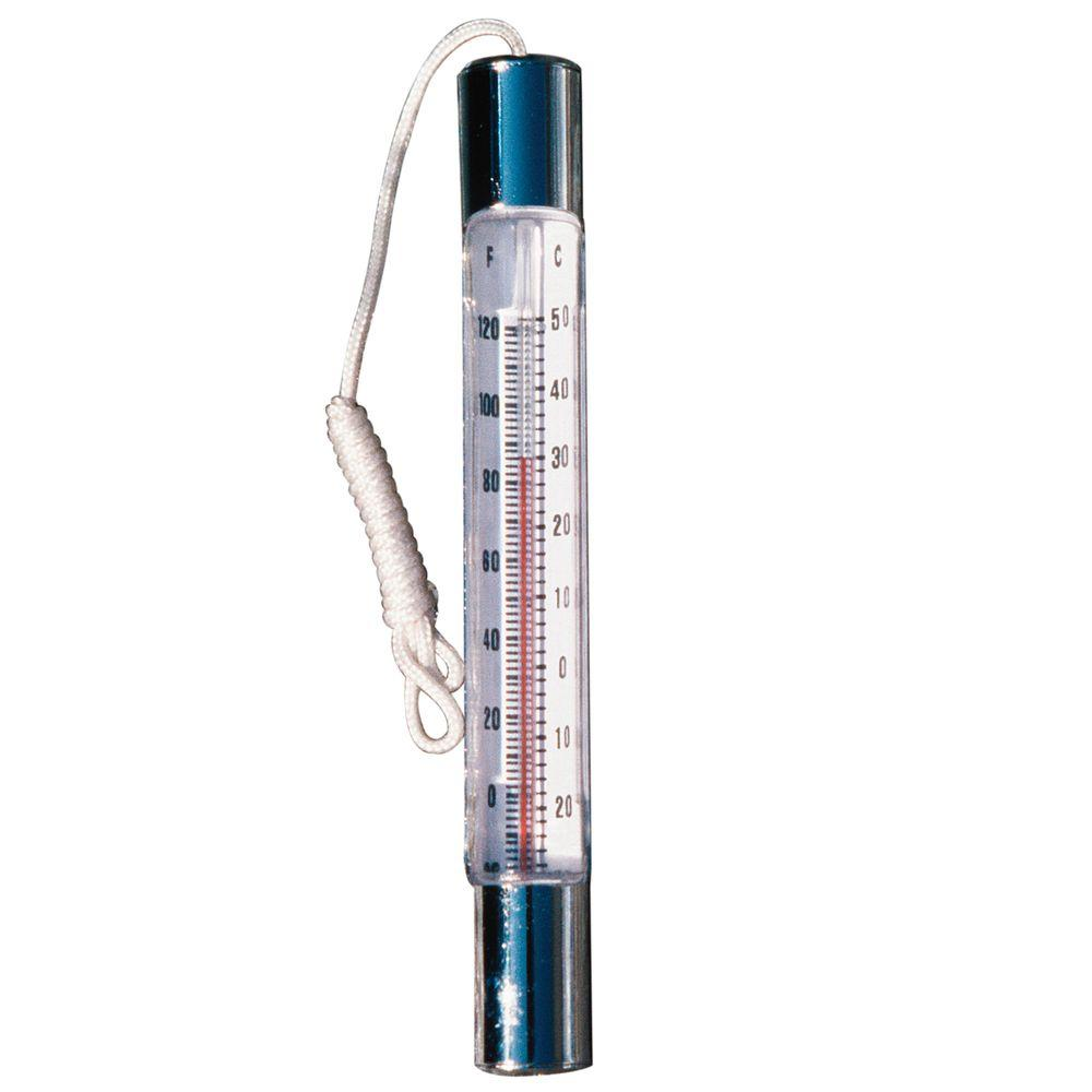 Basic Chrome Brass Thermometer
