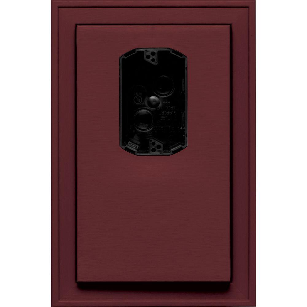 8.125 in. x 12 in. #078 Wineberry Jumbo Electrical Mounting Block