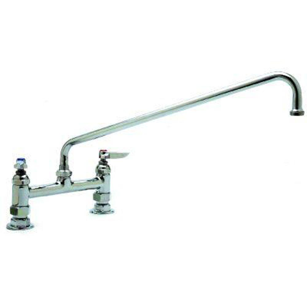 T&S Brass Deck Mixing Faucet Swing Nozzle