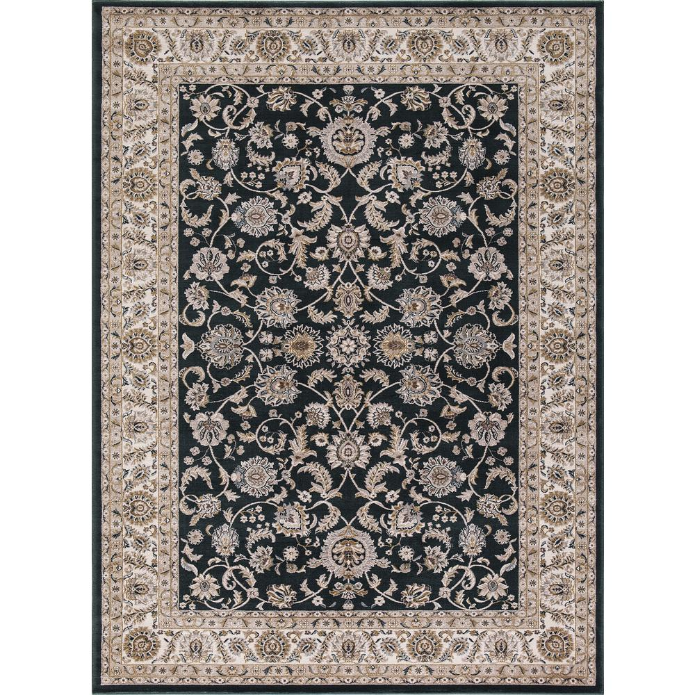 Kashan Bergama Green 3 ft. 3 in. x 4 ft. 7