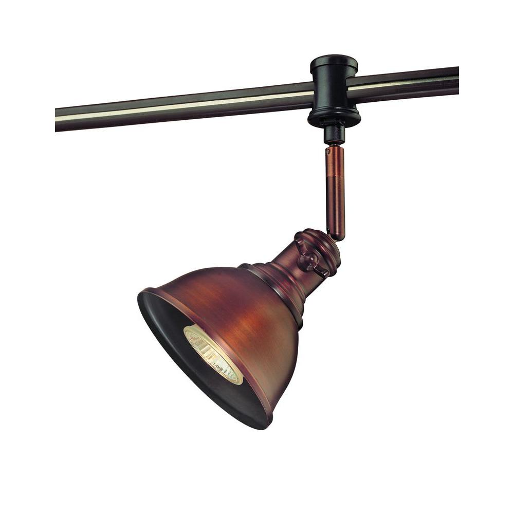 Hampton Bay 120-Volt Antique Bronze Flexible Track Head