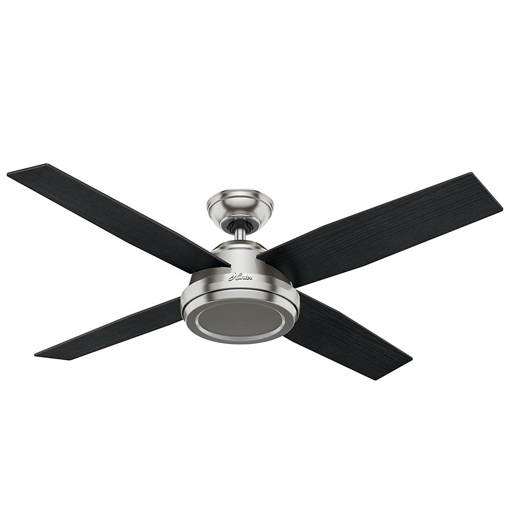 Hunter Dempsey 52 in. Indoor Brushed Nickel Ceiling Fan-59249 - The