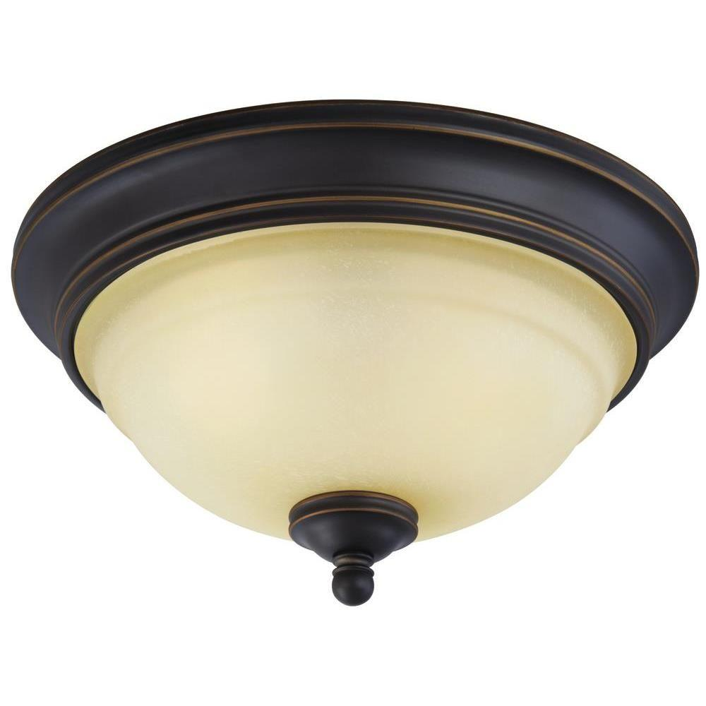 Montrose 2-Light Oil Rubbed Bronze with Highlights Flush Mount