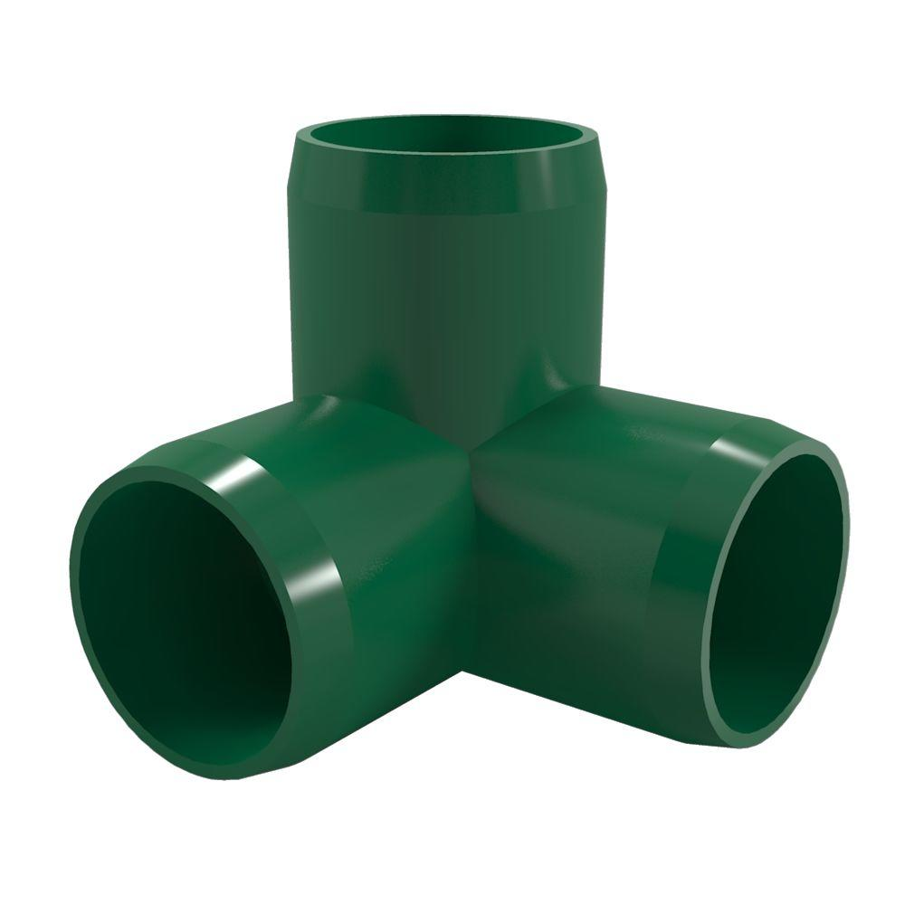 Formufit 3/4 in. Furniture Grade PVC 3-Way Elbow in Green (8-Pack)-F0343WE-GR-8