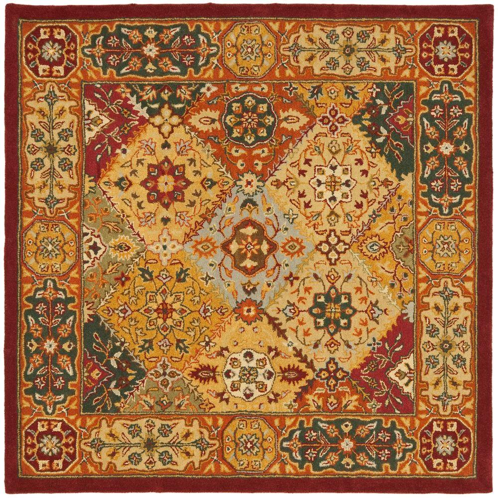 Safavieh Heritage Multi 4 ft. x 4 ft. Square Area Rug-HG512A-4SQ