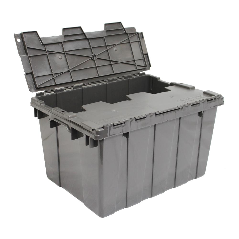 12 Gal. Heavy-Duty Flip Tote in Grey (8-Pack)