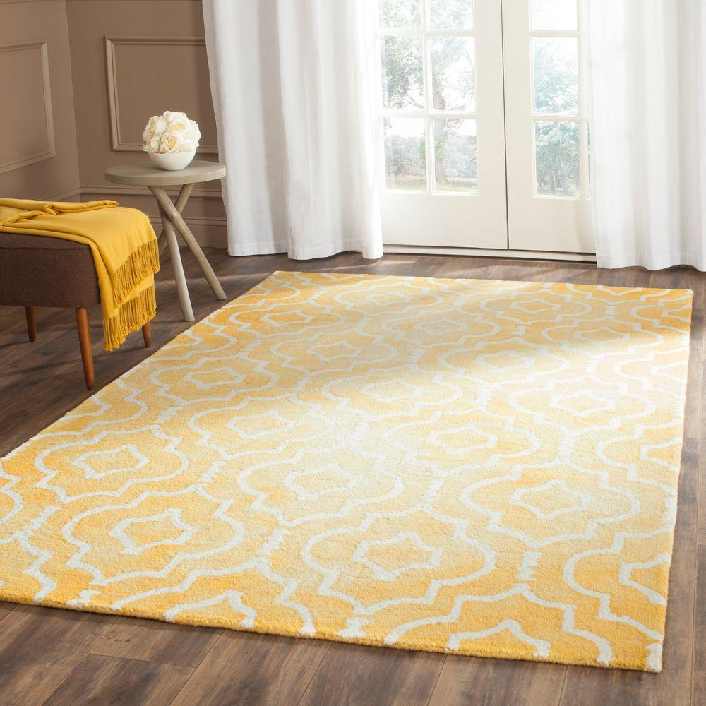 Dip Dye Gold/Ivory 5 ft. x 8 ft. Area Rug