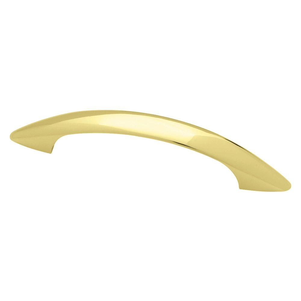 3 in. (76mm) Polished Brass Ethan Cabinet Pull