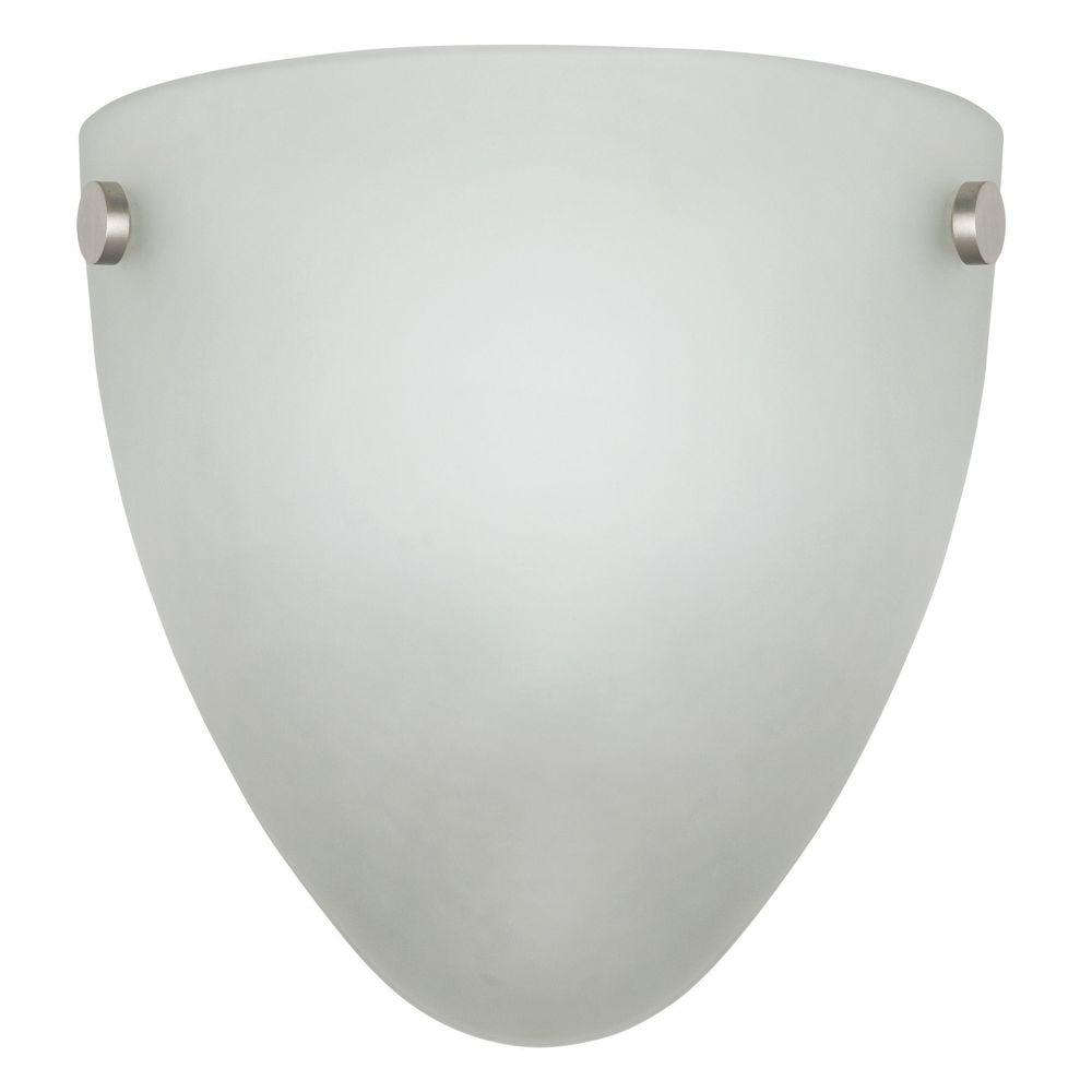 1-Light White, Satin Nickel/Oil Bronzed Indoor Quarter Wall Sconce with Satin