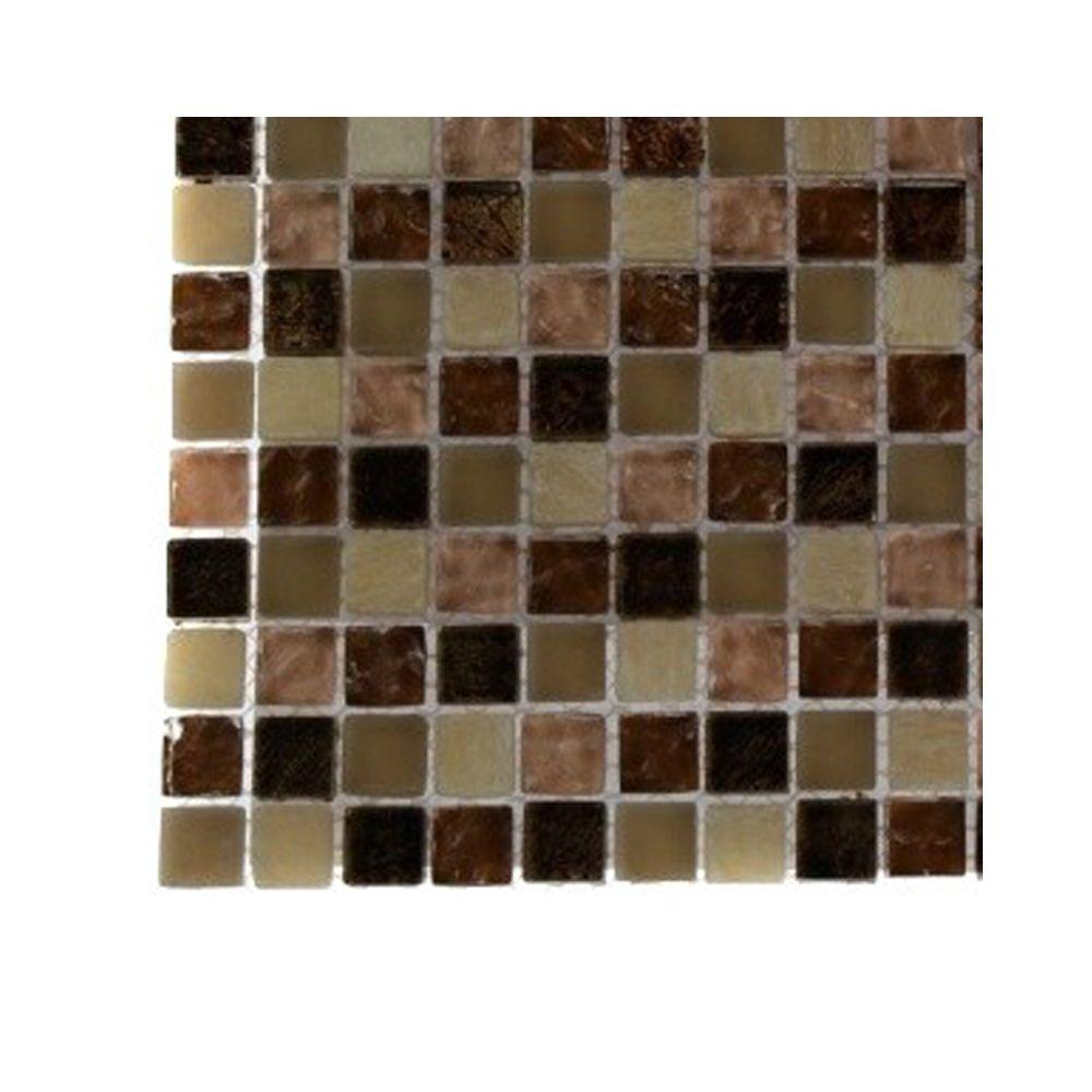 Southern Comfort Squares Glass Mosaic Floor and Wall Tile - 3