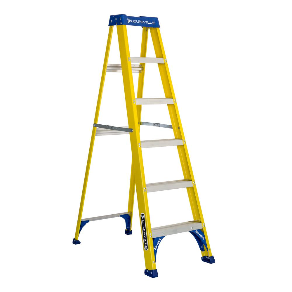 6 ft. Fiberglass Step Ladder with 250 lbs. Load Capacity Type