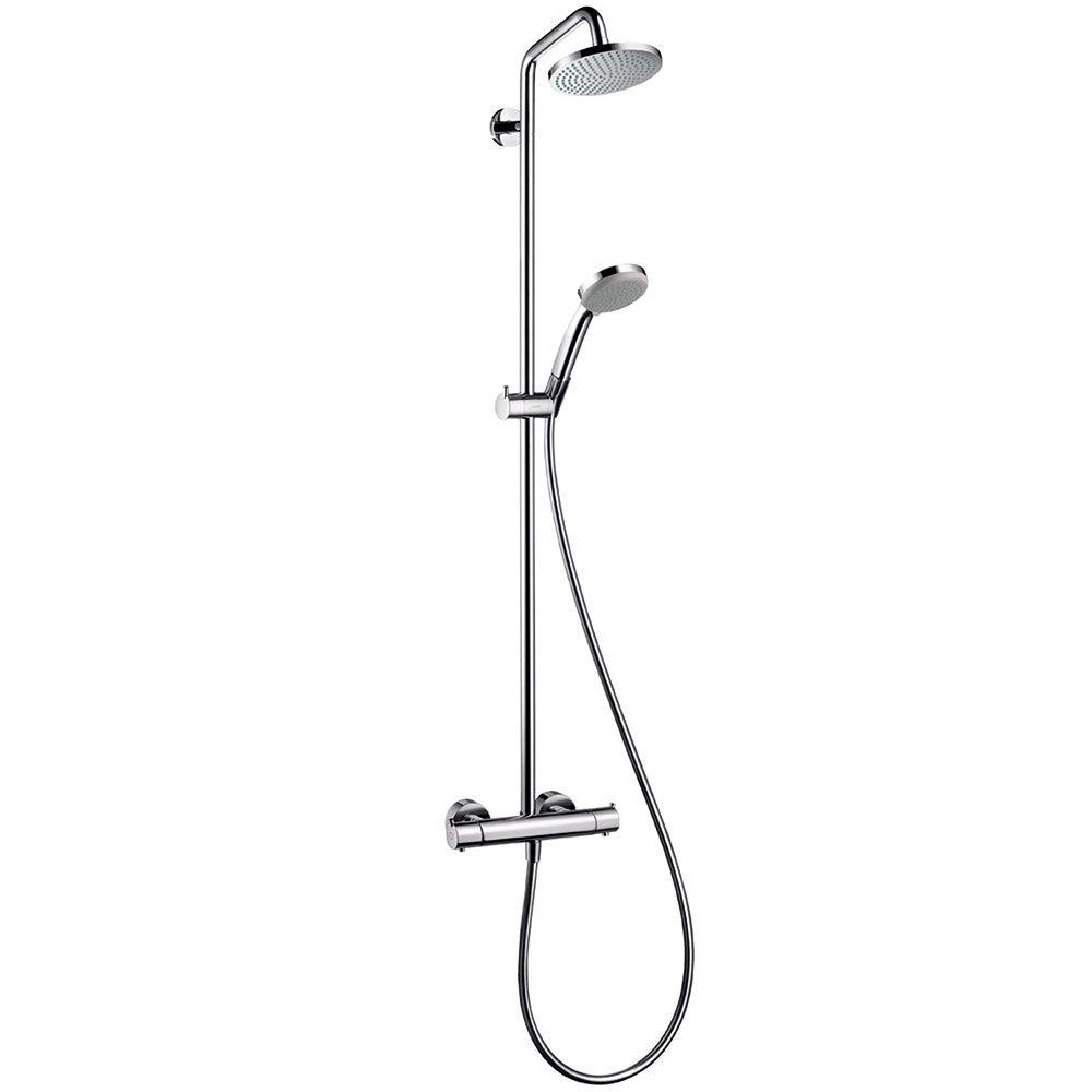 Schön Hansgrohe Croma 220 Shower Pipe in Chrome-27185001 - The Home Depot VV65