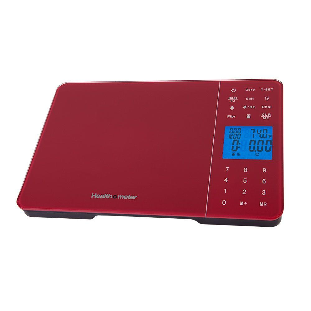 Escali Health o Meter Diet Tracking Kitchen Food Scale