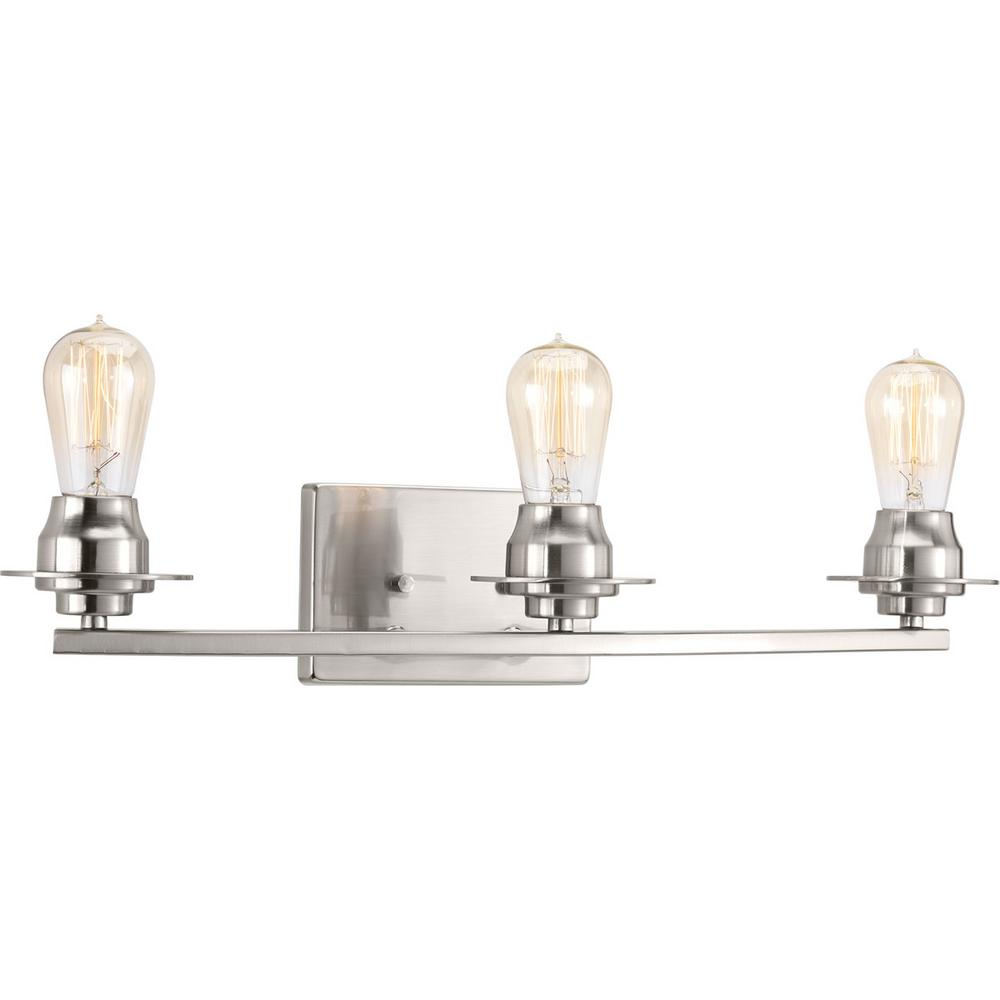Debut Collection 3-light Brushed Nickel Bath Light
