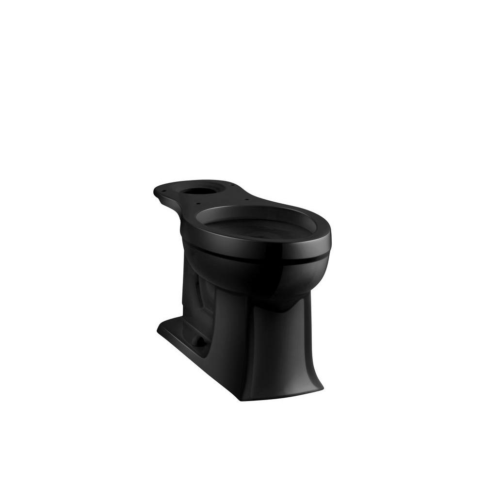 Archer Comfort Height Elongated Toilet Bowl Only in Black Black