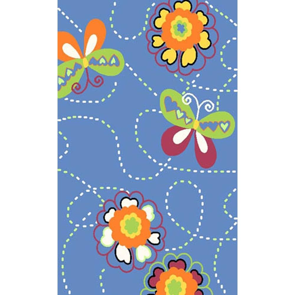 Fun Rugs Night Flash Collection Multi Colored 3 ft. 3 in. x 4 ft. 10 in. Area Rug