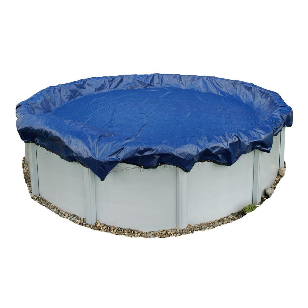 Blue wave 15 year 33 ft round above ground pool winter for Above ground pool winter cover ideas