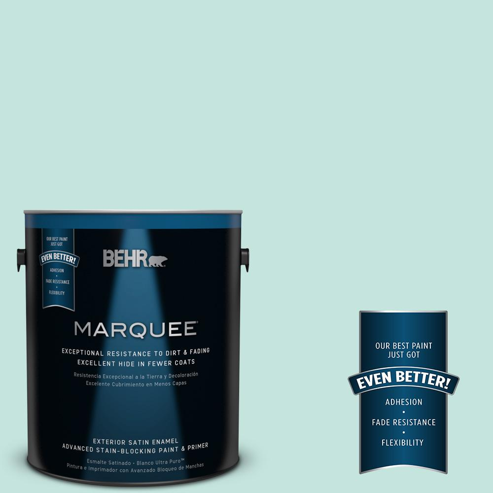 BEHR MARQUEE 1-gal. #MQ3-19 Misty Isle Satin Enamel Exterior Paint