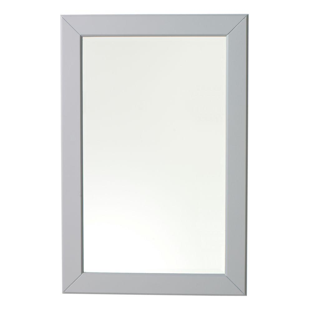 Home Decorators Collection Hayley 30 in. L x 20 in. W Framed Wall Mirror in Grey-DISCONTINUED