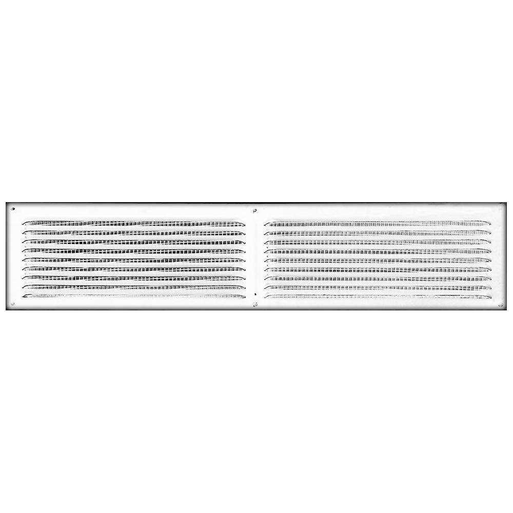 16 in. x 4 in. Aluminum Louvered Soffit Vent in White-84226