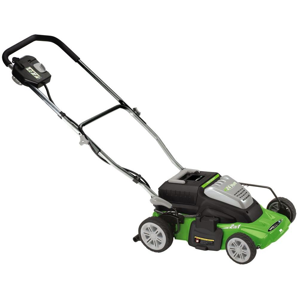 Earthwise 14 in. Rechargeable Cordless Electric Lawn Mower