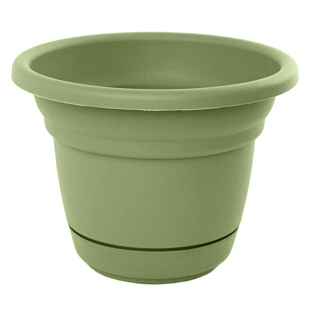 Bloem 12 in. Living Green Tahoe Plastic Planter-TP1242 - The Home