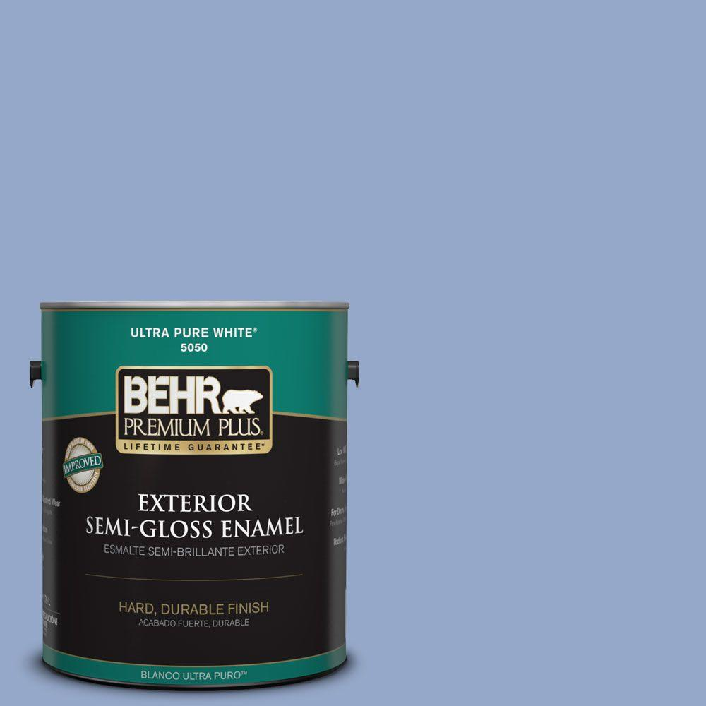 1-gal. #600D-4 Finesse Semi-Gloss Enamel Exterior Paint