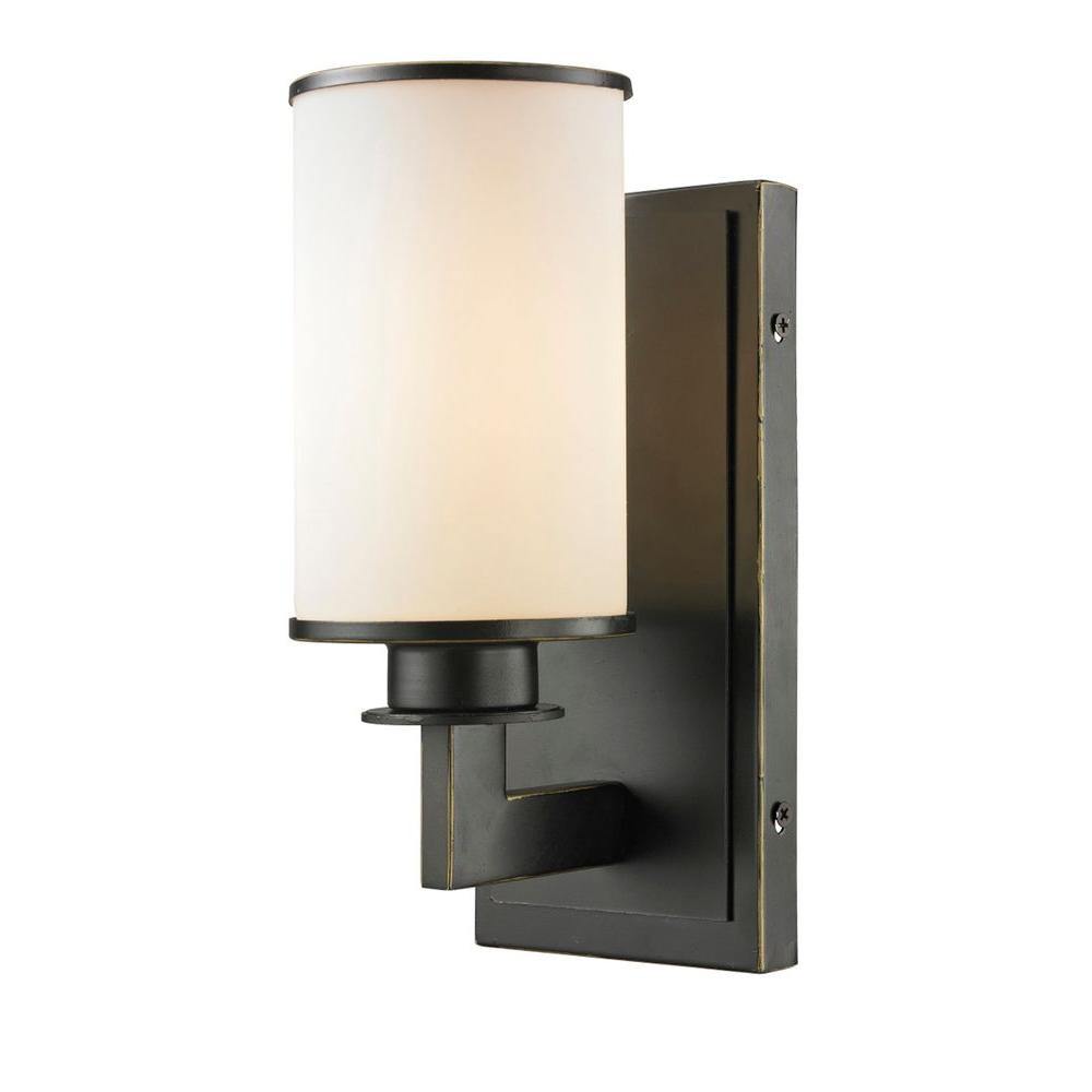 Lacy 1-Light Olde Bronze Sconce