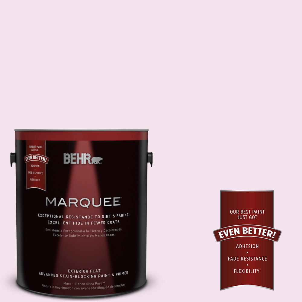 1-gal. #690C-2 Pink Amour Flat Exterior Paint
