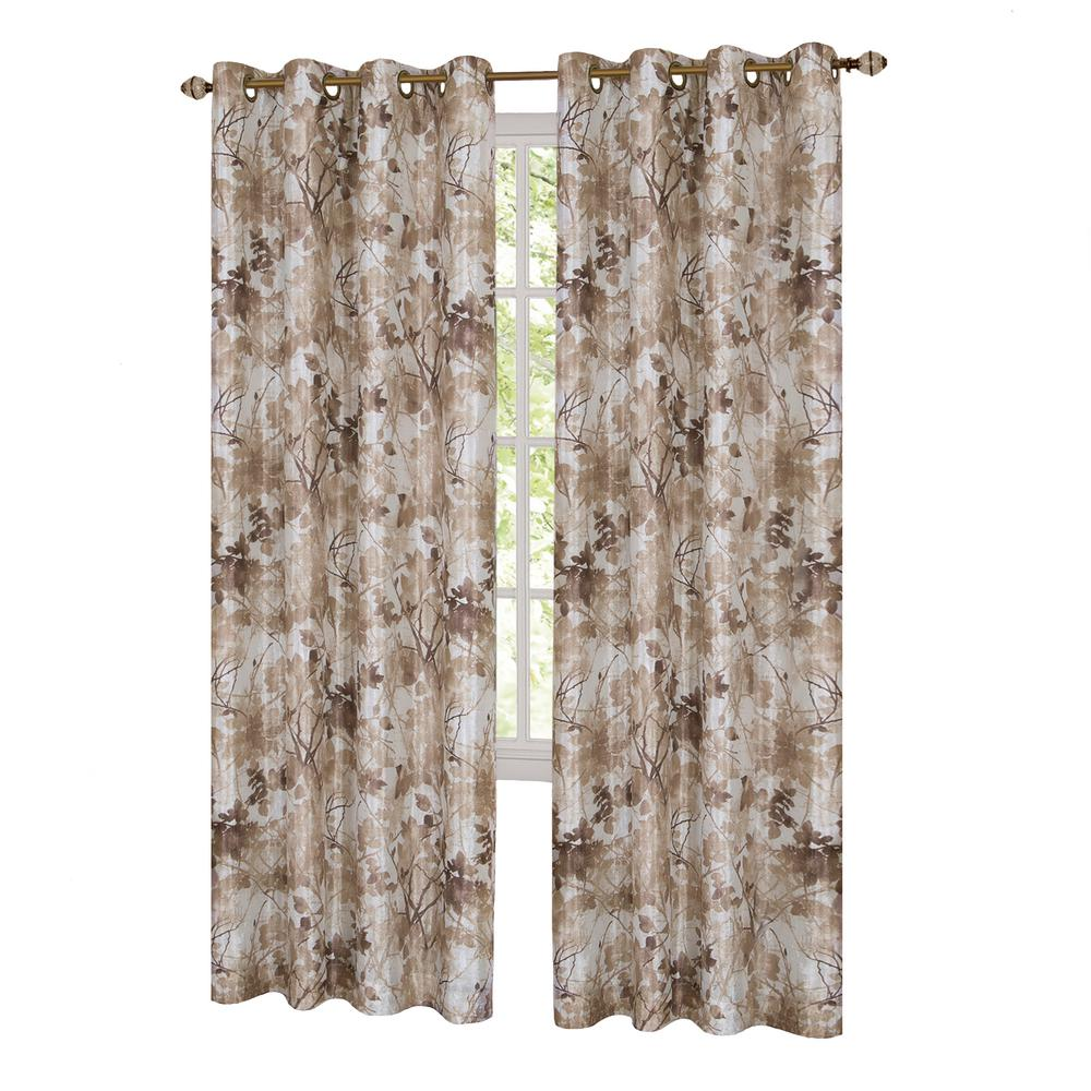 Peach curtains drapes - L Grommet Window Curtain Panel In Tan Lined