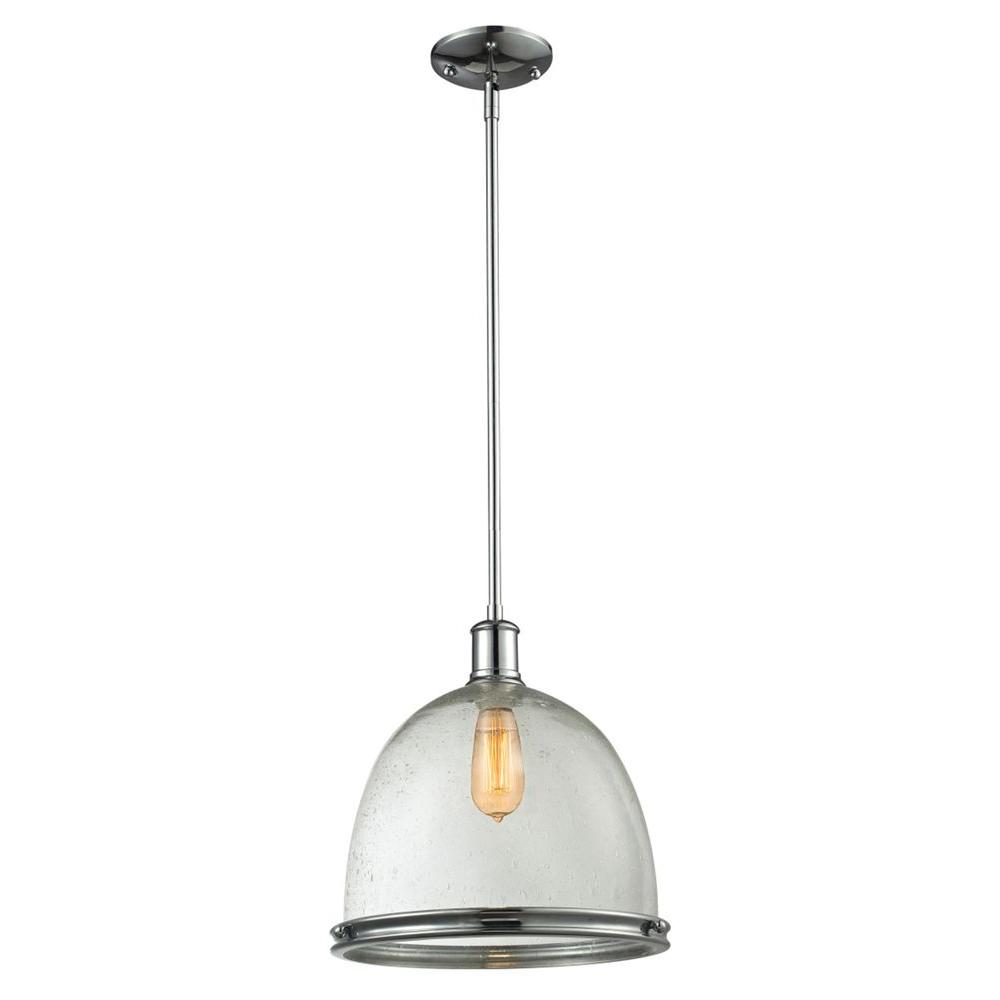 Filament Design Warren 1-Light Chrome Pendant-CLI-JB-029109 - The Home Depot