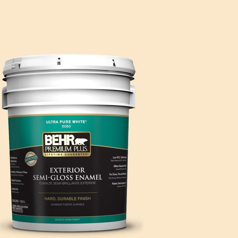 5-gal. #YL-W2 Spanish Lace Semi-Gloss Enamel Exterior Paint