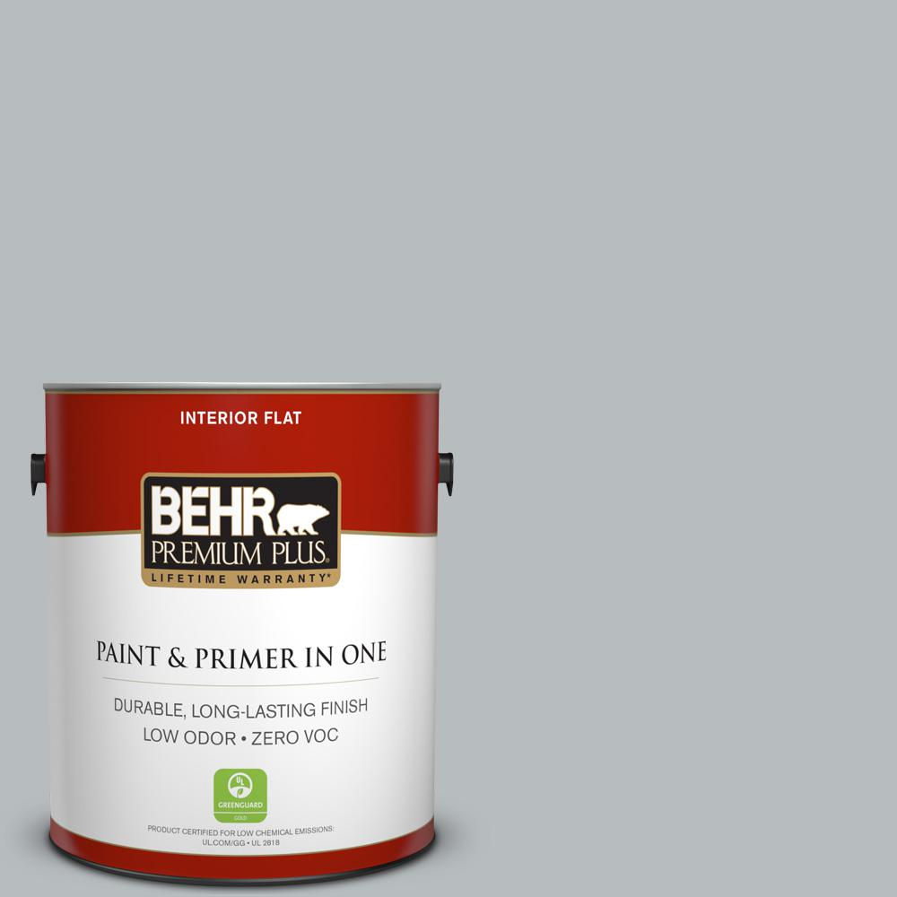 1 gal. #PPU18-05 French Silver Zero VOC Flat Interior Paint