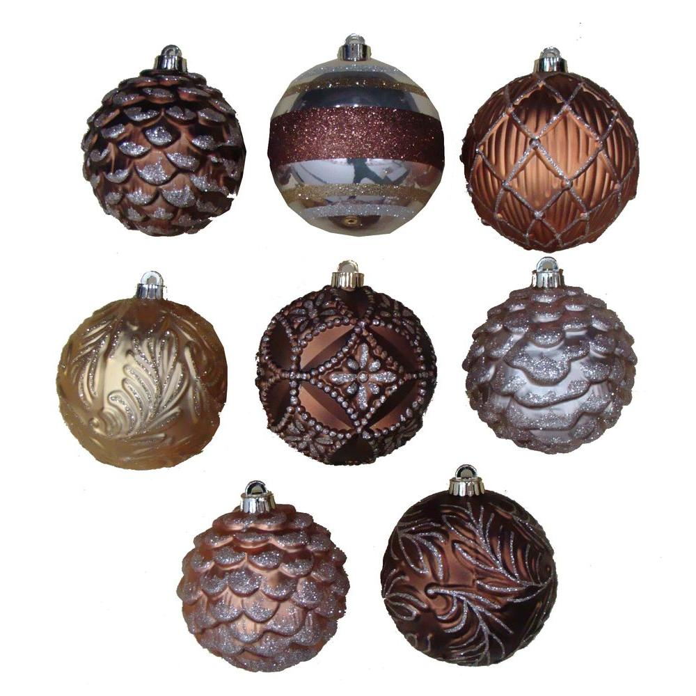 Martha Stewart Living Merry Metallic 5 in. Christmas Ornaments with Pattern (9-Pack)