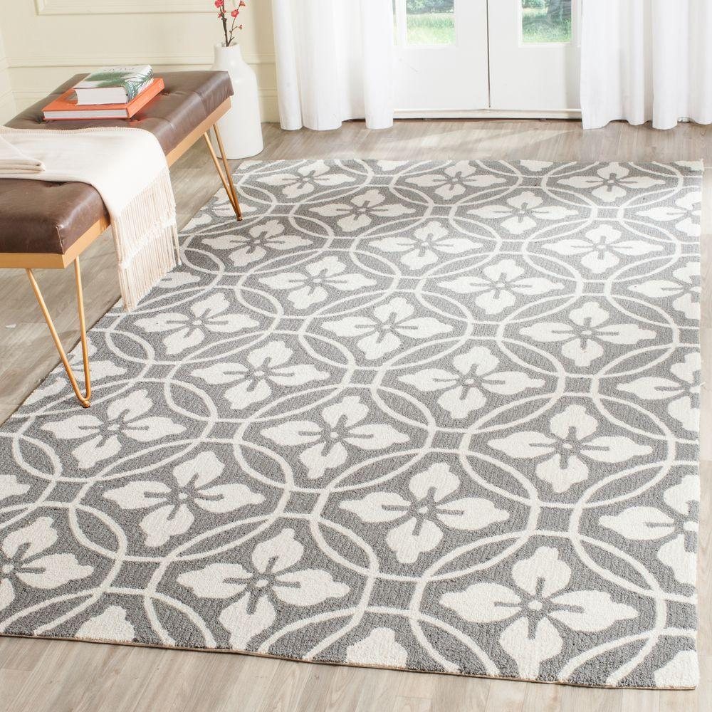 Four Seasons Grey/Ivory 3 ft. 6 in. x 5 ft. 6