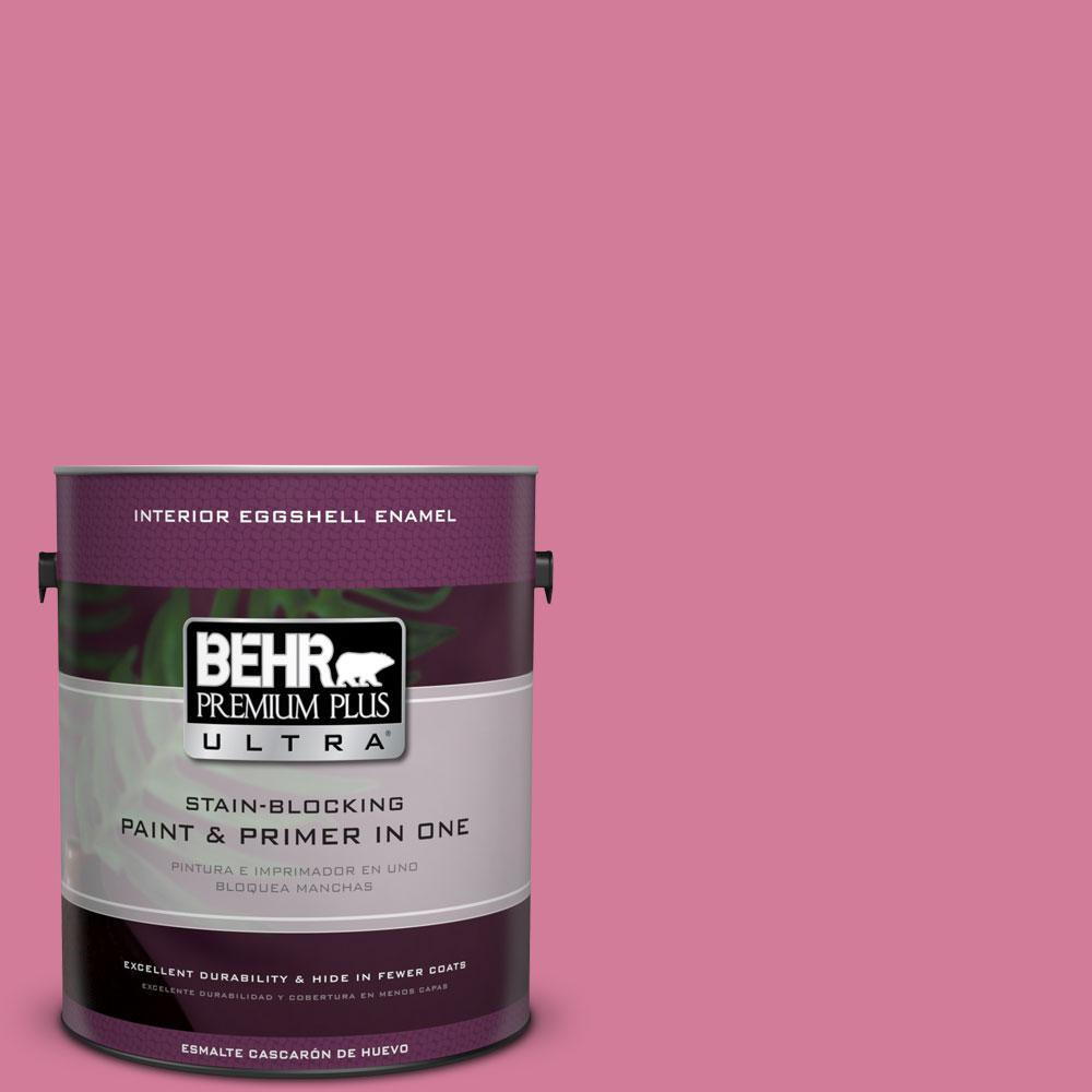 1-gal. #P130-5 Little Bow Pink Eggshell Enamel Interior Paint