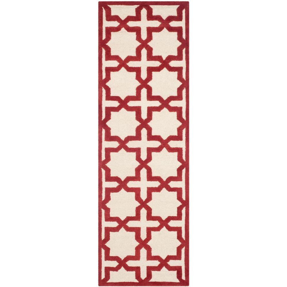 Cambridge Ivory/Rust (Ivory/Red) 2 ft. 6 in. x 8 ft. Runner
