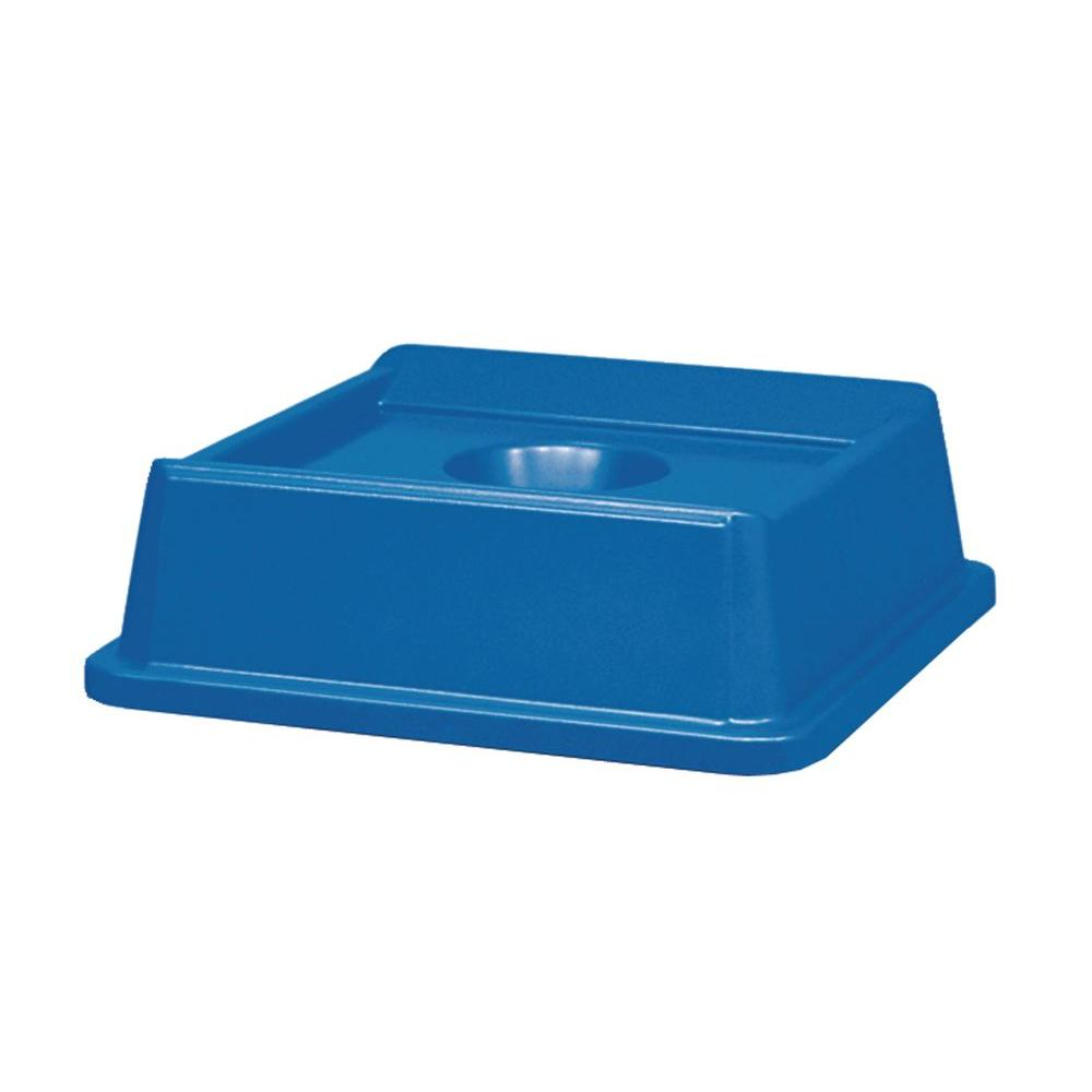 Rubbermaid Commercial Products Untouchable 35 and 50 Gal. Blue Square Trash