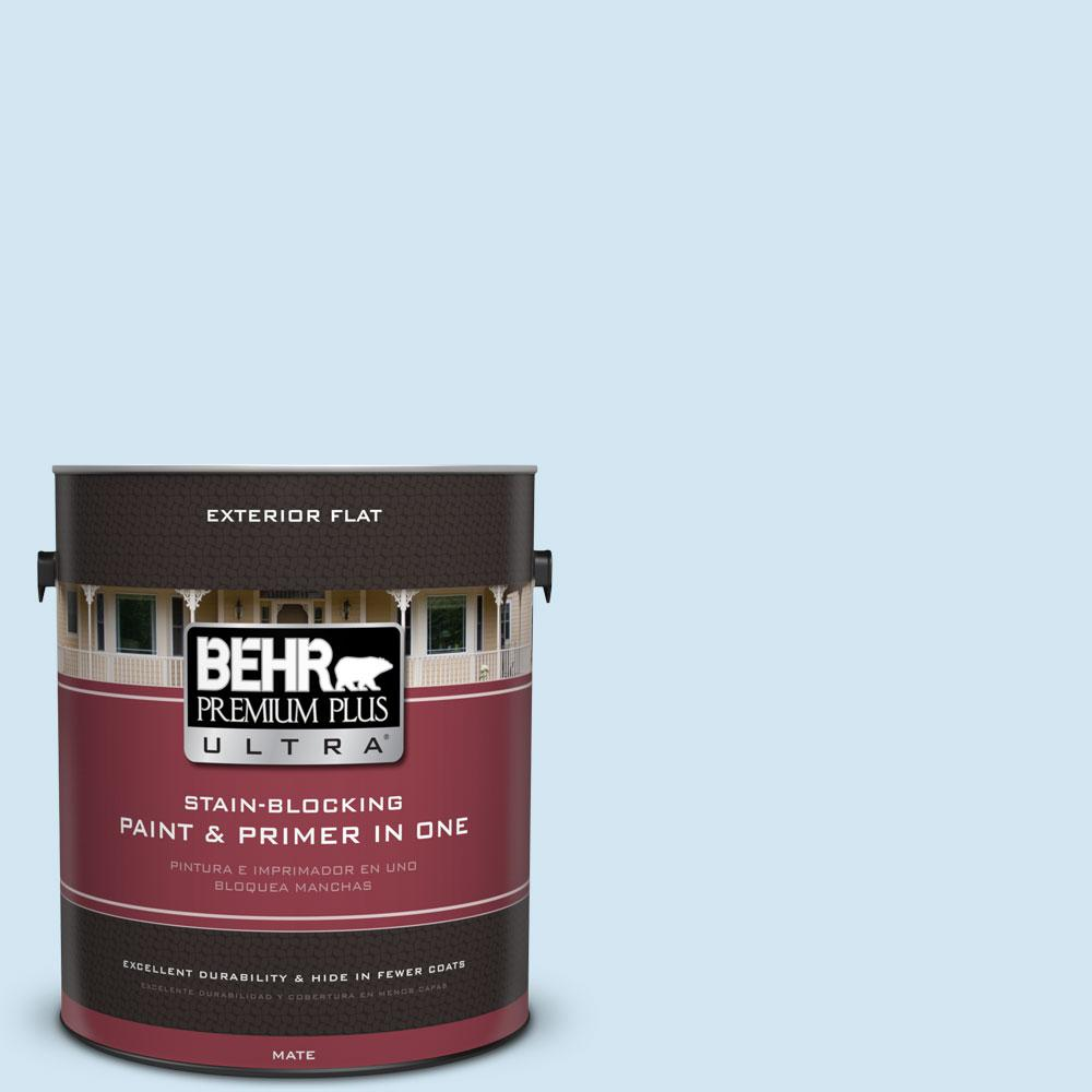 1 gal. #550A-1 Sea Sprite Flat Exterior Paint